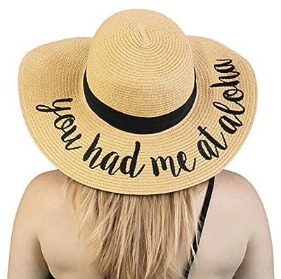 Hawaii Beach Sun Hat with Words - Give Aloha Gifts f90fd346b7a