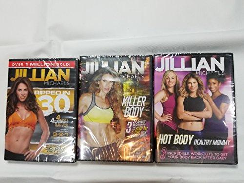 3 Pack Jillian Michaels Hot Body Healthy Mommy, Killer Body, Ripped In 30