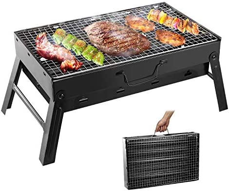 Folding Portable Barbecue Charcoal Grill Moclever Stainless Steel Small Charcoal Grill Mini product image