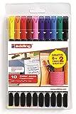 Edding 959099 - Bolsa de 10 rotuladores, multicolor