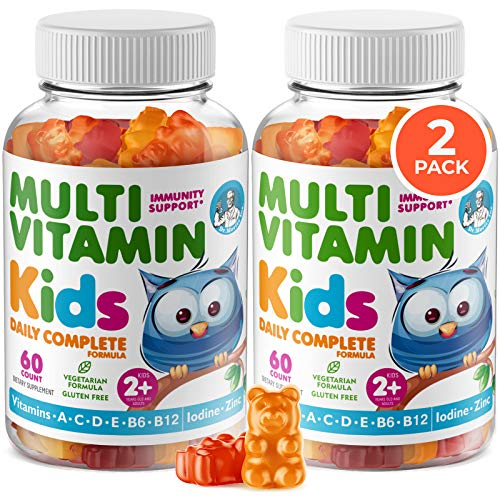 Kids Multivitamin Gummies 14 Essential Vitamins Daily Supplement for Ages 2+ Vitamin A, C, D, E Vegetarian B6 & B12, Zinc, Biotin Gummy Multivitamins for Children - All Natural Chewables (120 Count)