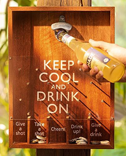 Dekoleidenschaft Trinkspiel Keep Cool Party Flaschenöffner Baum Bierspiel Bar Roulette