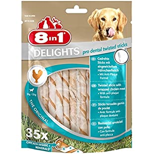 8 in 1 Delights Twist Dental Sticks for dogs 2-12 kg, 35-Piece