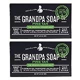 Grandpa's Pine Tar Soap 3.25 Oz (Pack of 2)