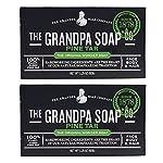 Grandpa's Pine Tar Soap 3.25 Oz (Pack of 2) 2