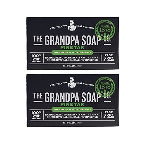 Grandpa's Pine Tar Soap 3.25 Oz (Pack of 2) 1