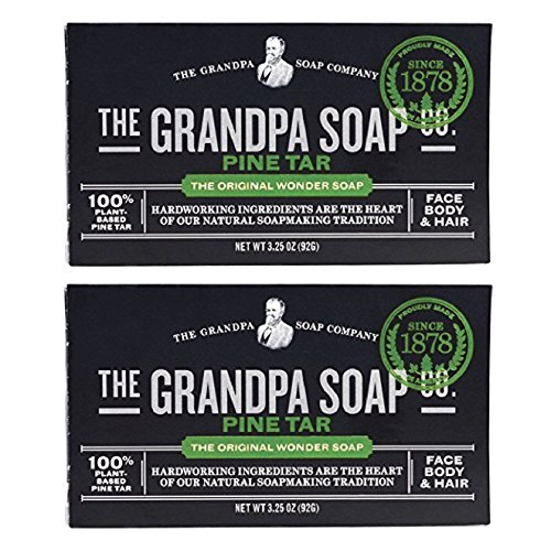 Grandpa's Pine Tar Soap 3.25 Oz (Pack of 2)