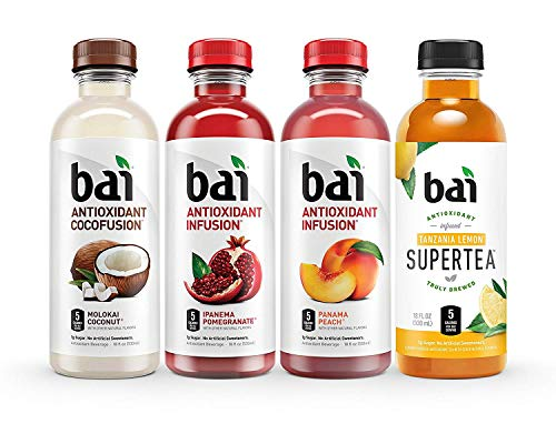 Bai Flavored Water, Mountainside Variety Pack, Antioxidant Infused Drinks, 18 Fluid Ounce Bottles (Mountainside Variety Pack, 2 Pack of 12)