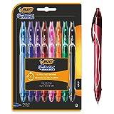 BIC Gel-ocity Quick Dry Bolígrafos de Gel de punta media (0,7mm) - Colores Surtidos, Blíster de 8 Unidades – Bolígrafo retráctil con tinta de secado ultrarrápido