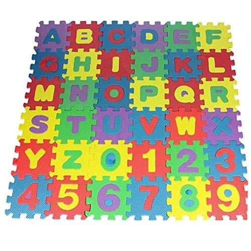 36pcs DIY Puzzle de la Estera del Juego de Espuma EVA Suave del bebé El Desarrollo de Planta de Arrastre del cojín Alfombras Digital y Carta Alfombra de Juego para bebés