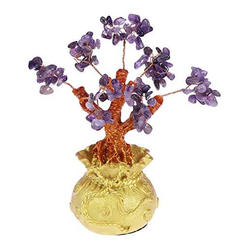 Garneck 19 cm Cristal Glücksbaum Dinero Baumschmuck Feng Shui Suerte Bonsai Estilo...
