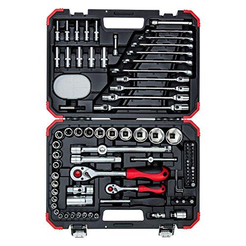 GEDORE red Steckschlüsselsatz, 92-teilig, Mit Umschaltknarren, Ratschen, Steckschlüssel und Bitsatz