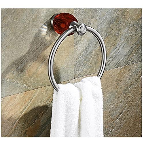 SUS304 Color de Acero Inoxidable Color Cepillado Cristal Cuarto de baño Cuarto de baño Anillo de Toalla de Moda Rack-C2 Soporte de Toalla de Mano para Accesorios de Cocina de baño