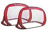 Schildkröt Pop-Up Goals, 2er Set Tore, 120 x 80 x 80cm, selbstaufstellend, transportabel, platzsparend, ideal für Fußball, Hockey, incl. Heringen und Anleitung, 2 Stück in praktischer Tasche, 970988