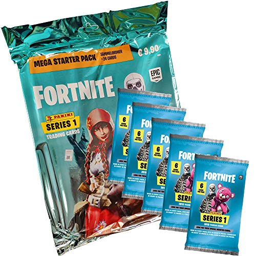 Fortnite Panini Trading Cards - 1 Starter + 5 Booster