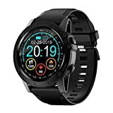 <span class='highlight'><span class='highlight'>BYTTRON</span></span> Smart Watch, Full Touch Screen IP68 Waterproof Bluetooth Fitness Tracker GPS Running Watch Activity Tracker Pedometer with Heart Rate Sleep Tracking Camera Control for Men Women