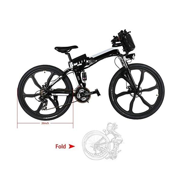 51eK1f5fmdL. SS600  - Oppikle Faltbares E-Bike,36V 250W Elektrofahrräder, 8A Lithium Batterie Mountainbike,26 Zoll Große Kapazität Pedelec mit Lithium-Akku und Ladegerät