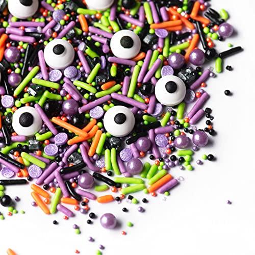 Sprinkles - Halloween Sprinkles - Cake Sprinkles - Candy Eyeball - Cupcake and Cake Topper - Monster Mash - 6.5 ounces