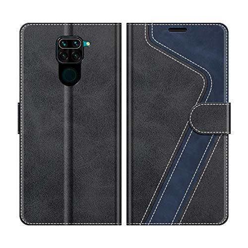 MOBESV Handyhülle für Xiaomi Redmi Note 9 Hülle Leder, Xiaomi Redmi Note 9 Klapphülle Handytasche Case für Xiaomi Redmi Note 9 Handy Hüllen, Modisch Schwarz
