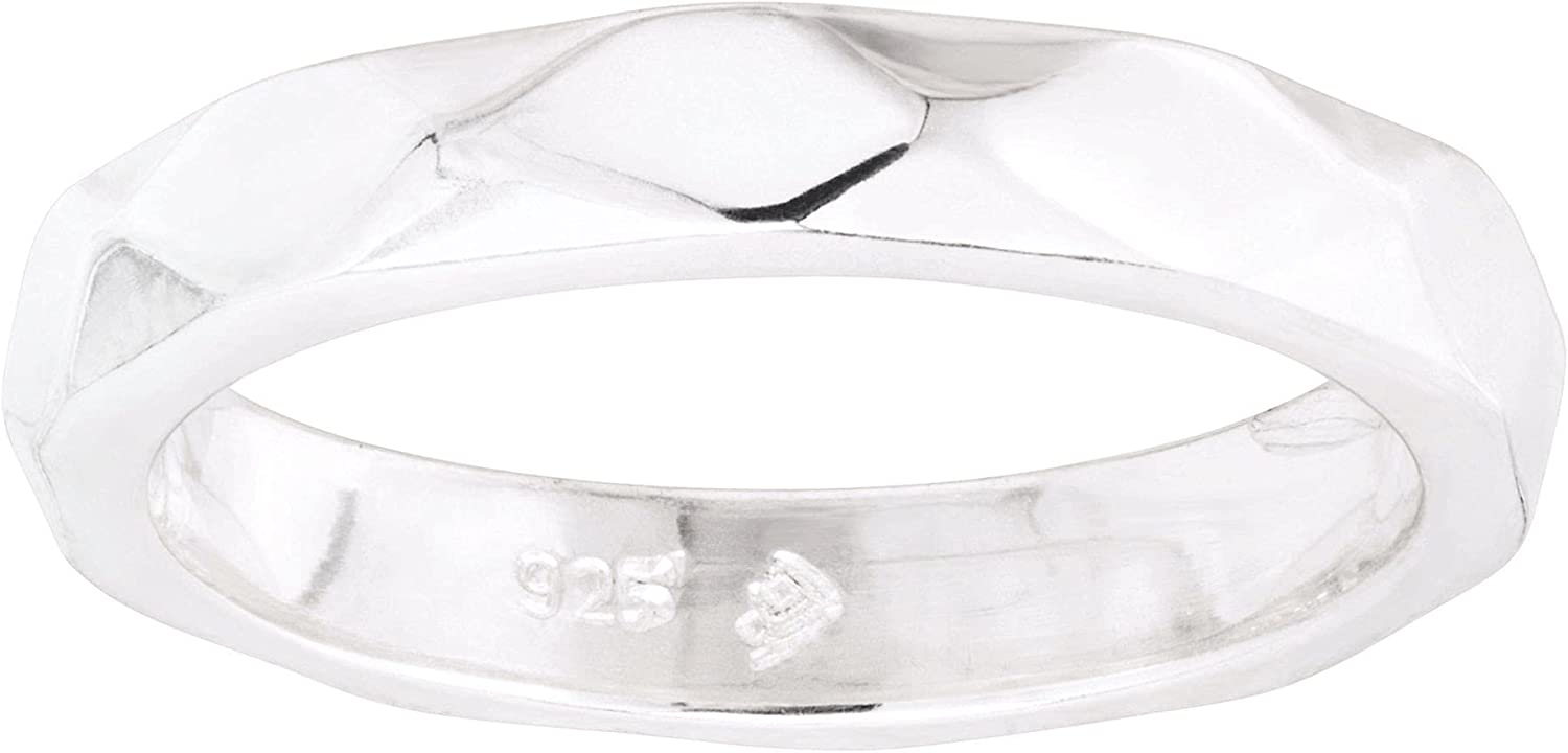 Silpada Purchase 'Nuts About You' Faceted Sterling in Ring Band Silver Limited time for free shipping