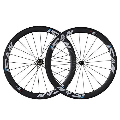 classement un comparer Paire de roues ICAN 50mm Carbon 700C20 / 24 trous 1510g