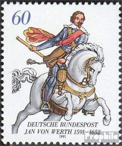 Prophila Collection Germania 1504 (completa Edizione) 1991 Gennaio di Valore (Francobolli per i collezionisti) cavalli