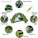 GEERTOP 4 Season 2 Person Waterproof Dome Backpacking Tent for Camping Hiking Travel Climbing - Easy Set Up