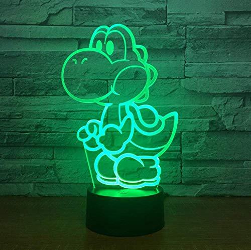 Yoshi Mario 3D Led Usb Lampe Cartoon Game Figure Super Acryl Neuheit Weihnachtsbeleuchtung Geschenk Touch Fernbedienung Spielzeug
