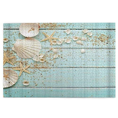Rompecabezas de 1000 piezas para adultos Tema Playa Concha de Mar Estrella Puzzle Para Niños Niñas Mayores Regalos