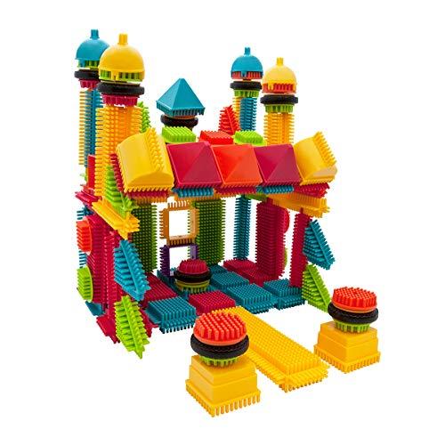 PicassoTiles PTB112 112pcs Bristle Shape Blocks Building Tiles Set Construction Learning Toy Stacking Educational Block, Creativity Beyond Imagination, Inspirational, Recreational, Educational