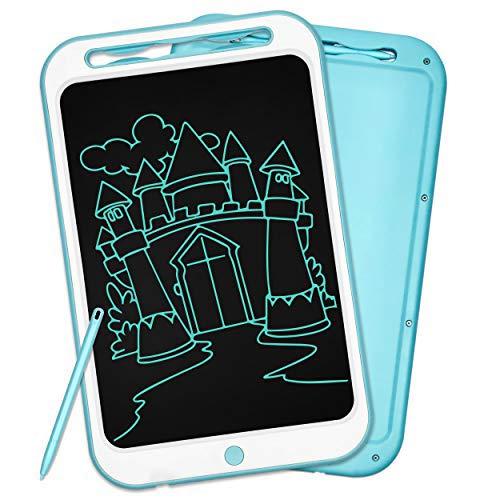 Richgv 12 Pulgadas Tablet para Niños, Tablets de Escritura LCD, Portátil Tableta de Dibujo, Cuaderno de Notas Adecuada Juguetes de Niñas de 3-10 Años, 1 Año de Garantía (12 Pulgadas, Azul)
