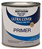 Rust-Oleum 1980730 Painter's Touch Latex Paint, Half Pint, Flat Gray Primer