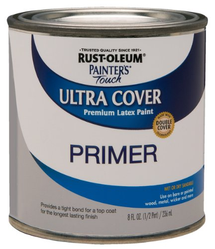Rust-Oleum, Flat Gray Primer 1980502 Painters Touch Quart Latex