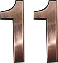 2 Pieces Self-Adhesive House Numbers- 2.75 Inch High Door Address Stickers for Apartment/Mailbox Number, Bronze, Number 1
