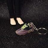 Llavero 1st Generation Sneakers 3D Sneakers Pareja Bolsa Adornos Regalos Creativos Zapatillas De Deporte Regalos Un par de Cordones de los Zapatos Amarillo marrón Violeta