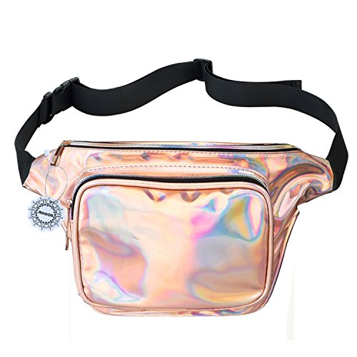 Fanny Pack for Women Party Waist Festival Money Belt Leather Pouch Concert HolographicWallet Bum Bag Tote