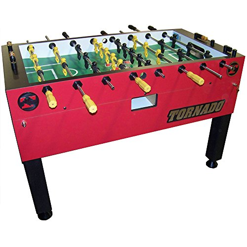 Tornado Red T-3000 3 Goalie Coin Op Foosball Table