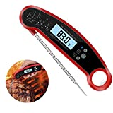 Termómetro Digital De Cocina, Termómetros Para Carne with Folding Probe with Built-In Strong Tape Bottle Opener Function 2-4 Seconds Speed Measurement, IP67 Waterproof for Meat Barbecue
