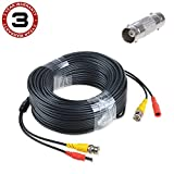 SLLEA 150ft Black BNC Video Power Wire Cord for Samsung Camera Cable SDH-C74041 HD Systems
