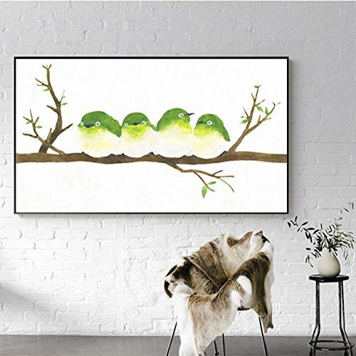 Geiqianjiumai ijsvogel canvas moderne kunst wanddecoratie foto woonkamer muurkunst decoratie poster en druk zonder lijstwerk