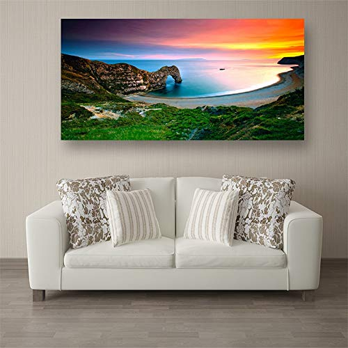 5D Diy Diamond Painting Kit Vista Al Mar Full Drill Rhinestone Crystal Embroidery Cross Stitch For Adults Kids Arts Craft Canvas Pictures By Number Set For Living Room Bedroom Wall Decor C7009 40X80Cm