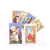 GYNFJK Tarot of White Cats Oracle Card Board Deck Games Naipes para Juegos de Fiesta