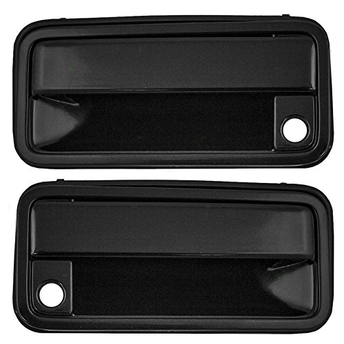 Pair Set Front Outside Exterior Door Handles Replacement for Chevrolet GMC Pickup Truck SUV 15968163 15968164