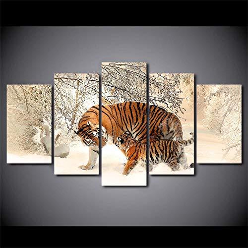 lianglianga Canvas Foto - 5 Stuk - Muur Art Print - Afbeelding - Klaar om op te hangen - Woonkamer Slaapkamer Decoratie - Gift -C- Ingelijst