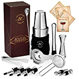 16-piece Pro Cocktail Set with Weighted Boston Shaker. Dishwasher...