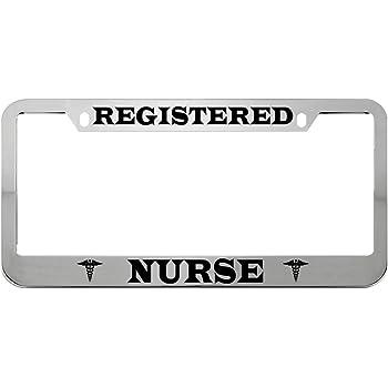 Car Tag Frame Heart Beat Great Gift for the Nurse License Plate Holder Strawbaru Nurse Life License Plate Frame Auto License Plate Frame. Car Plate Frame