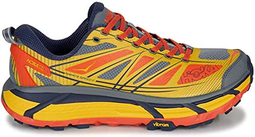 HOKA ONE One Mafate Speed 2 Deportivas Hommes Amarillo/Rojo Running/Trail
