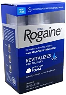 Rogaine Mens Regrowth Foam 5% Unscented 3 Month (2 Pack)