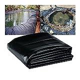 RT-OSXE 0.3mm Flexible Fisch Teichfolien, Undurchlässig Garten Teiche Membran, Reißfest Liner für Reservoir Fluss Steigung, Benutzerdefiniertes Format (Color : Black (0.3mm), Size :...