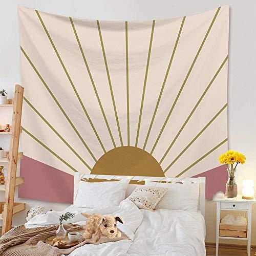 KHKJ Tapiz de arcoíris Sol y Luna Elefante Tapices de Tela de Pared Tapices de Tela para Colgar en la Pared Alfombra de Playa de Arena Manta de Toalla Manta decoración A3 95x73cm
